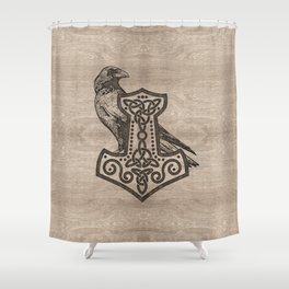 Mjolnir  - the hammer of Thor Shower Curtain