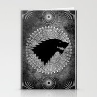 stark Stationery Cards featuring House Stark by Micheal Calcara
