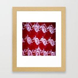 Roadside Assistance in Red Framed Art Print