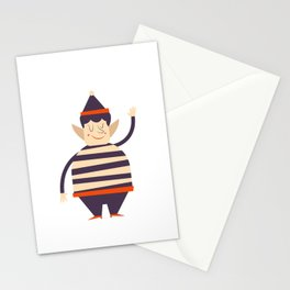 Santa's elf says HI Stationery Cards
