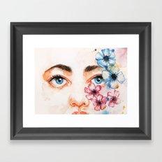 Blured Framed Art Print