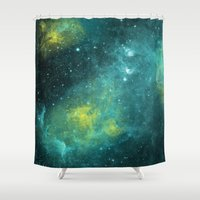 pacific rim Shower Curtains featuring The Outer Rim by Adam Geen