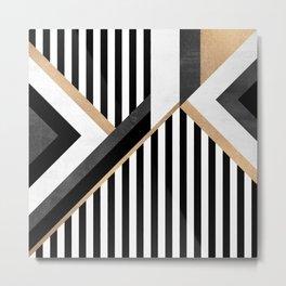 Stripe Combination Metal Print