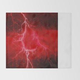 Red Lightning  Throw Blanket
