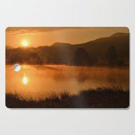 Sun Rising Over the Pond Landscape Cutting Board