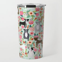 Pitbull florals mixed coats pibble gifts dog breed must have pitbulls florals Travel Mug