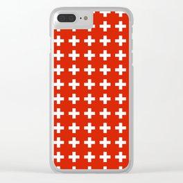 flag of switzerland 2-Switzerland, Alps,swiss,Schweizer,suisse,zurich,bern,geneva Clear iPhone Case