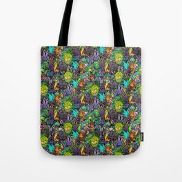 Lovecraft Chibi Bestiary II Crowded ver Tote Bag