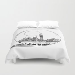 London in a glass ball . artwork Duvet Cover