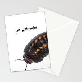 Pill millipedes Stationery Cards