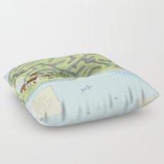 Eagle Island Maze Floor Pillow