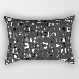 Black and white, day and night, dark and light, life contrasts, simple abstract texture design Rectangular Pillow