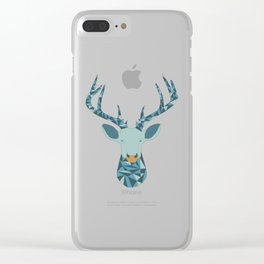 Geometric stag head Clear iPhone Case