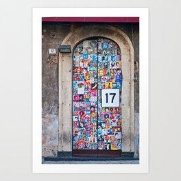 The Secret behind the Door Number 17 of Catania - Sicily Art Print
