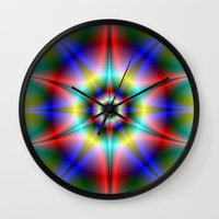 halo Wall Clocks featuring Star Halo by Objowl