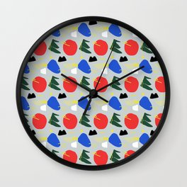 Primary Chunker Pattern Wall Clock