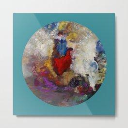 """Odilon Redon """"La roue de la fortune"""" Metal Print"""