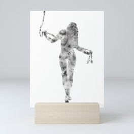Feminine figure with rope Mini Art Print