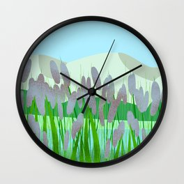 Near to river Wall Clock