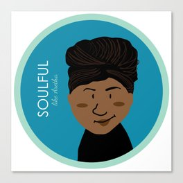 Soulful like Aretha Franklin Canvas Print