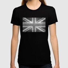 Union Jack Vintage retro style B&W 3:5 T-shirt