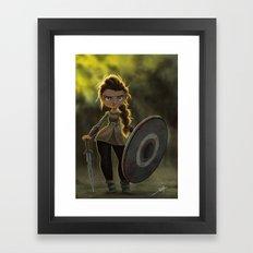 Viking Shieldmaiden Framed Art Print