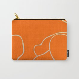 Lined - Orange Carry-All Pouch