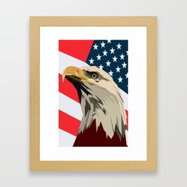 Eagle. Red, White and Blue. USA. Patrotic Framed Art Print