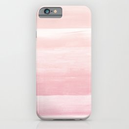 Blush Watercolor Abstract Minimalism #1 #minimal #painting #decor #art #society6 iPhone Case