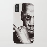 jay z iPhone & iPod Cases featuring Jay by dan,
