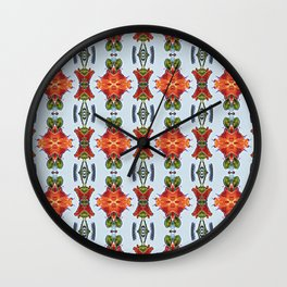 Royal Poinciana OP Pattern Wall Clock