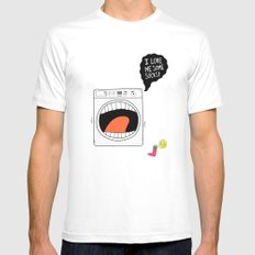 Sock Eater 1000 White SMALL Mens Fitted Tee