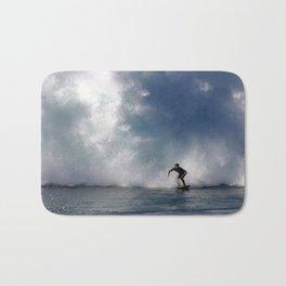 Surfing At The Wedge In Newport Beach, Califonia Bath Mat
