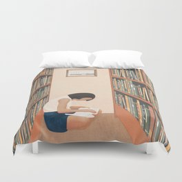 Getting Lost in a Book Duvet Cover