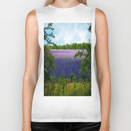 Summertime Lavender Biker Tank