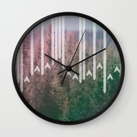 planes Wall Clocks featuring Paper Planes by stephanie nichole