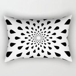 Trance Teardrops Rectangular Pillow