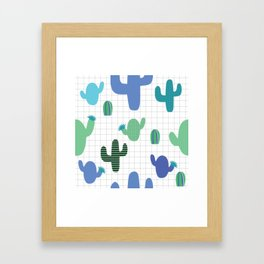 Cactus blue and green #homedecor Framed Art Print