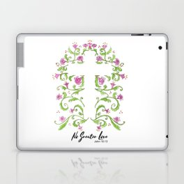 No Greater Love Floral Cross Laptop & iPad Skin