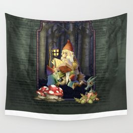 Father Gnome Story Time Wall Tapestry
