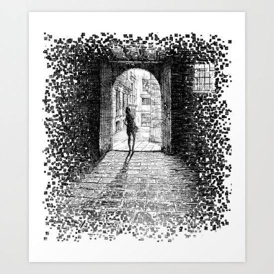 Light - Black ink Art Print