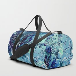 texture in blues Duffle Bag