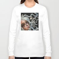 surrealism Long Sleeve T-shirts featuring White Spirits :: Pop Surrealism Painting by Kristin Frenzel