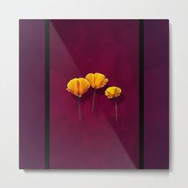 Three Poppies Metal Print