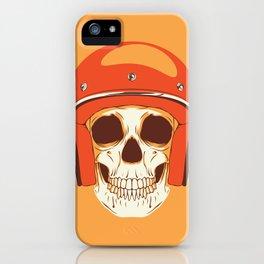 Helmet Skull iPhone Case