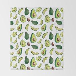Avocado Pattern Throw Blanket
