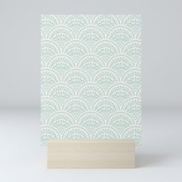 Bohemian Scallops - Jade Mini Art Print