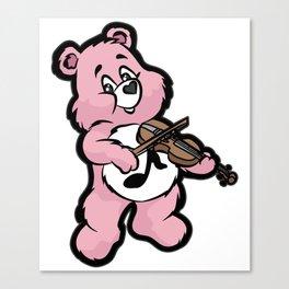 TEDDY BEAR VIOLIN Canvas Print