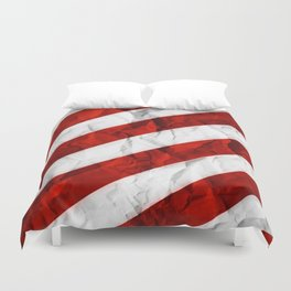 Crumbled Red Stripes Duvet Cover