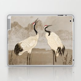 Wintering Manchurian Cranes Laptop & iPad Skin